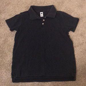 Gap kids navy blue polo short sleeve shirt